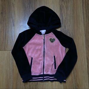 Juicy Couture Girls Velvet Hooded Zip-Up Sweatshirt 5T
